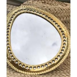Miroir marocain Laiton oeuf perforé