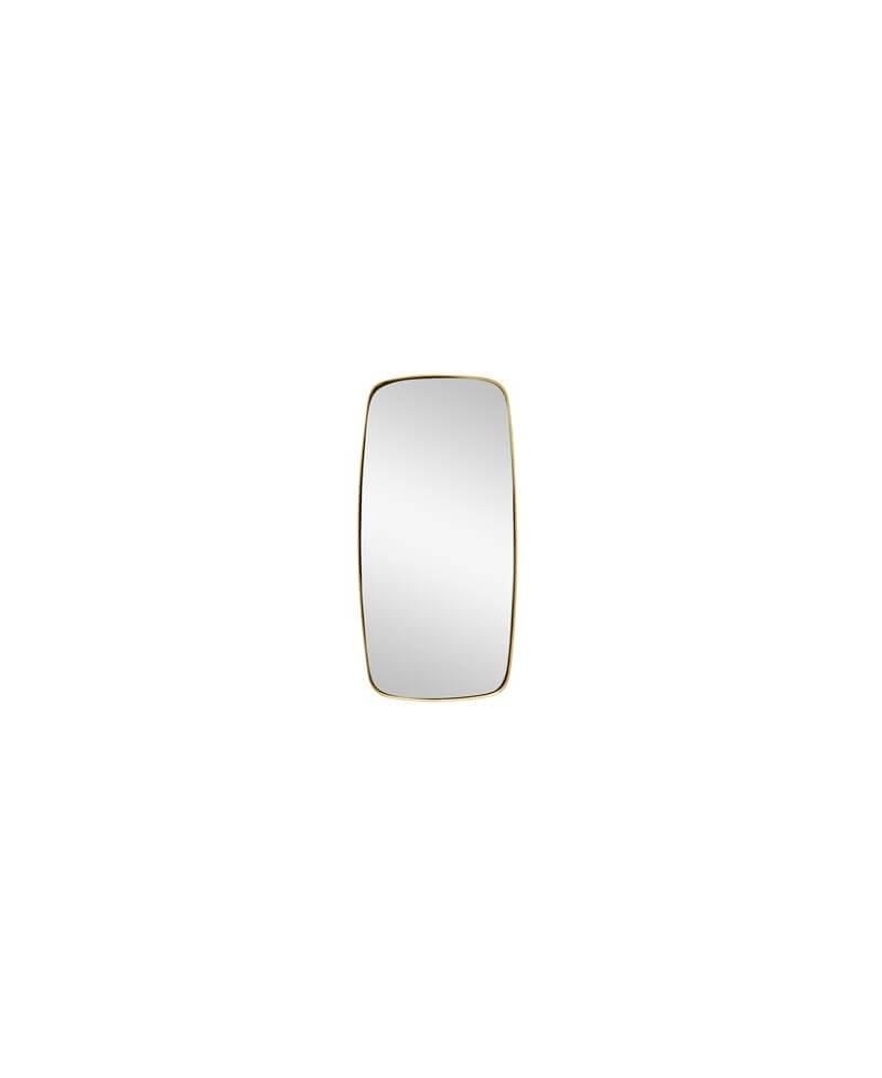 Miroir laiton rectangulaire coins arrondis h bsch for Miroir dore rectangulaire