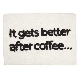 "Tapis de bain ""It gets better after coffee"""
