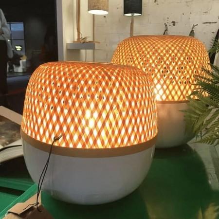 Lampe à poser Bambou tressé