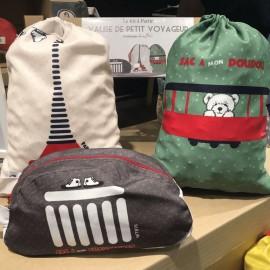 Kit trois sacs de voyage enfants 3-5 ans