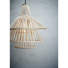 Suspension en Bambou esprit vintage