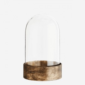 Globe verre et métal doré