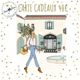 Carte Cadeau Beau M Store valeur 40€