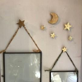 Clous décoratifs dorés, étoile, lune, croix ou larme