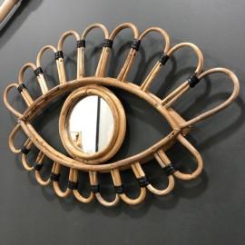 Miroir Oeil Bambou Naturel Noir