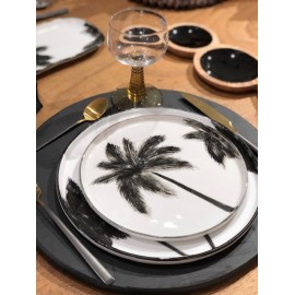 Assiettes Dessert Palmier