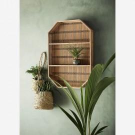 Etagère murale Rectangulaire Bambou & Coton rectangulaire 55x10,5x80 cm