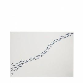 Set de Table en fibre de cellulose motif banc de poissons blanc et bleu