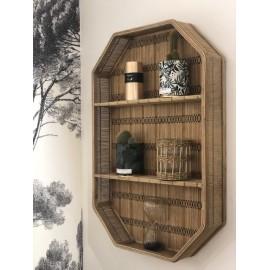 Etagère murale octogonale Bambou & Coton rectangulaire Mme Stoltz