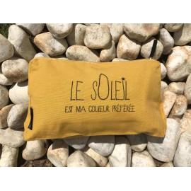 Trousse en coton imprimée Jaune = le soleil est ma couleur préférée !