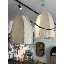 Suspension Artisanale Toile de Jute Naturelle