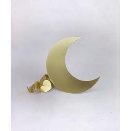 Lune décorative en dorée Laiton