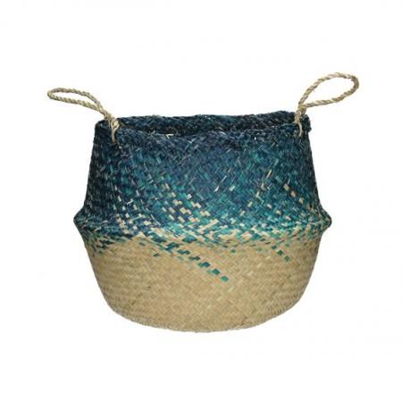 Panier Boule bicolore bleu onc de mer