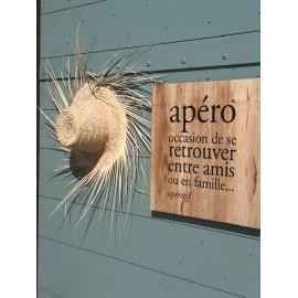 Plaque décorative bois Apéro