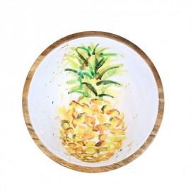 Plat manguier 38cm motif Ananas