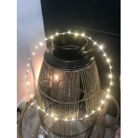 Cercle 40 LED métal D.30cm