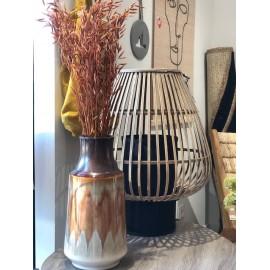 Vase céramique brique
