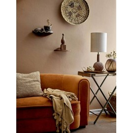 Lampe de salon jute & lin Noir Naturel - Madam Stoltz