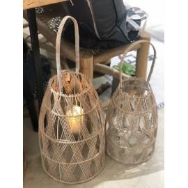 Lanterne bambou et verre