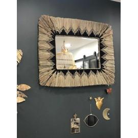 Grand Miroir Ethnique naturel/noir