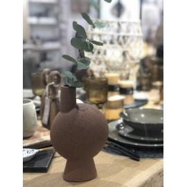 Vase haut noisette Madam Stoltz 14x40cm