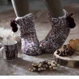 Chaussons chaussettes tricotés