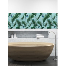 Set mosaïque Jungle fond Vert 9 stickers