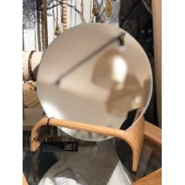 Miroir Rond socle bois de Saule