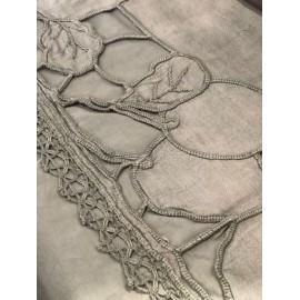 Nappe vintage teint main 250x150cm