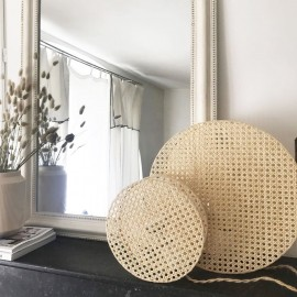 Lampe ronde cannage