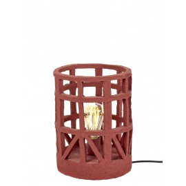 Lampe de table Rouge en papier mâché Earth by Serax