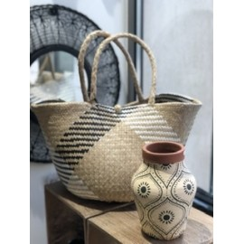 Vase terre cuite imprimé de feuillage - Madam Stoltz