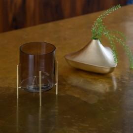 Vase soliflore doré forme lanterne Alladin