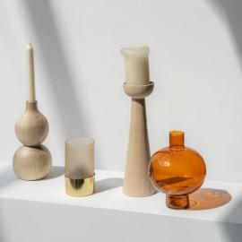 Vase décoratif ikebana orange