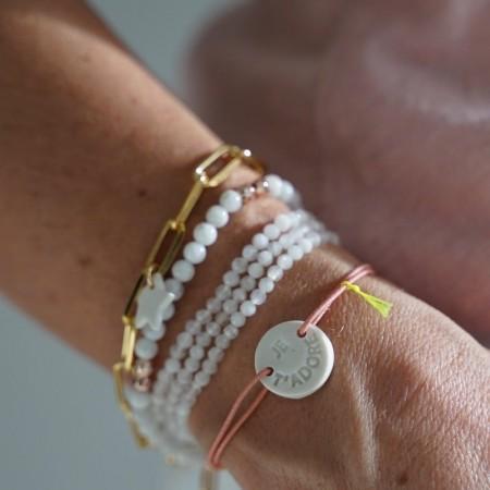 "Bracelet élastique ""Je t'adore"" Margote Ceramiste"