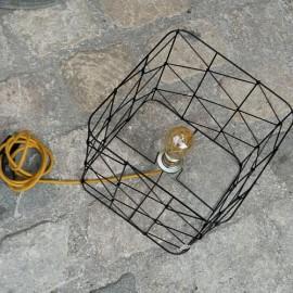 Lampe LACET CROISE LIN & câble Lin