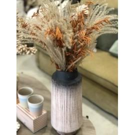 Vase ceramique crème Noir&Blanc