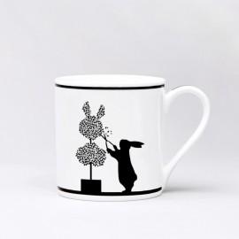 Mug en porcelaine petit lapin noir