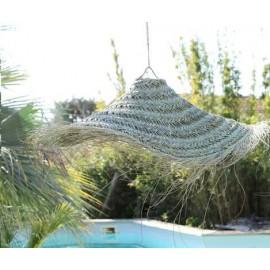 Suspension parasol XL Doum - création artisanale Maroc