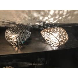 Lampes Veilleuse en cordes de papier tressé 2 couleurs Best Before