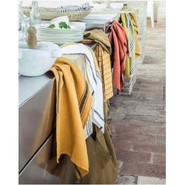 Torchon de cuisine Coton lavé Moutarde