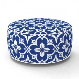 Pouf in&out gonflable Fleurs Batik bleu