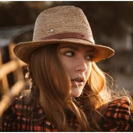 chapeau raphia naturel