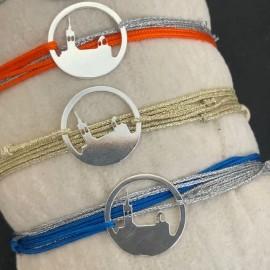 Bracelet cordon double tour Médaille Bonne Mère