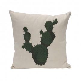 Coussins en toile recyclée motif cactus
