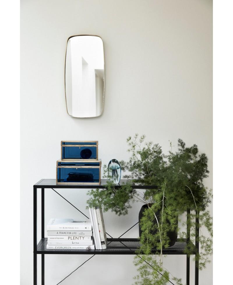 miroir laiton rectangulaire coins arrondis h bsch. Black Bedroom Furniture Sets. Home Design Ideas
