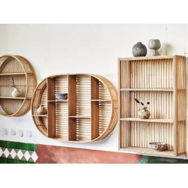 Étagère Ovale en bambou - Madam Stoltz