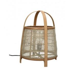 Lampe de table Lin Naturel et Bambou
