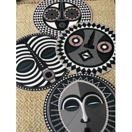 Set de table rond Rond Masques Africains DOUROU